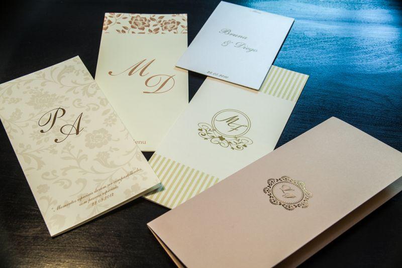 Convites de Casamento - Cardápios