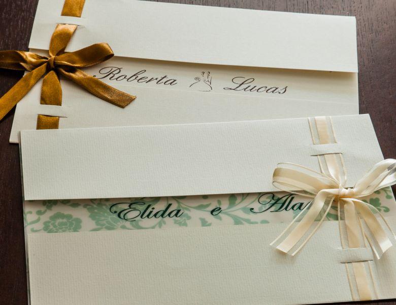 Convites de Casamento - 106 passa fita