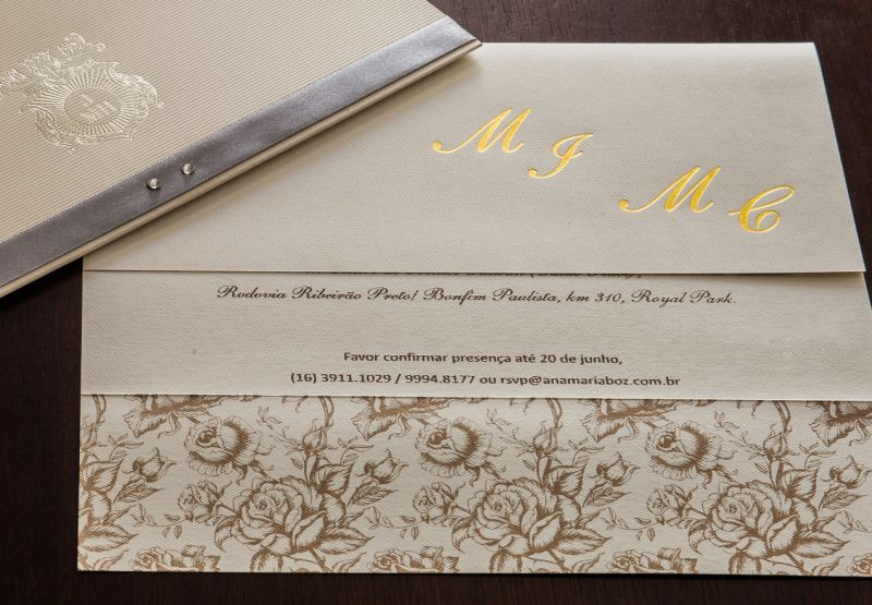 Convites de Bodas de Casamento - 106 VP