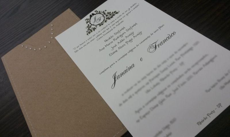Convites de Casamento - 013 JF