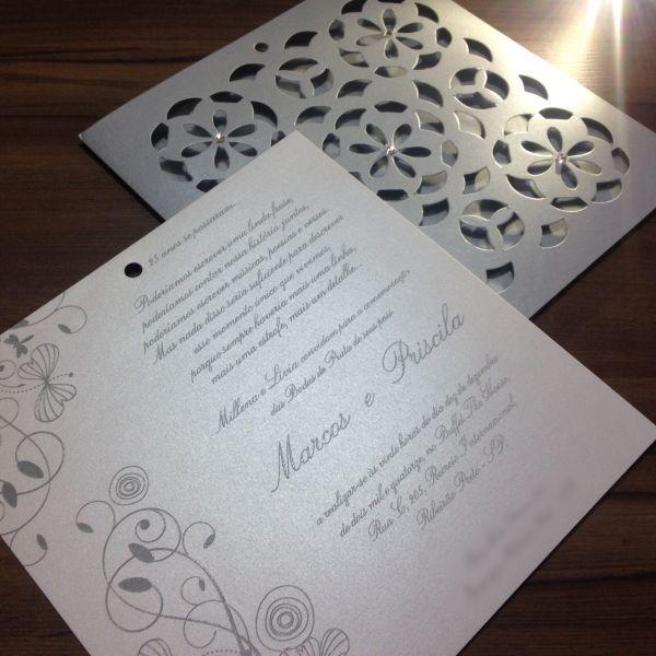 Convites de Bodas de Casamento - 286