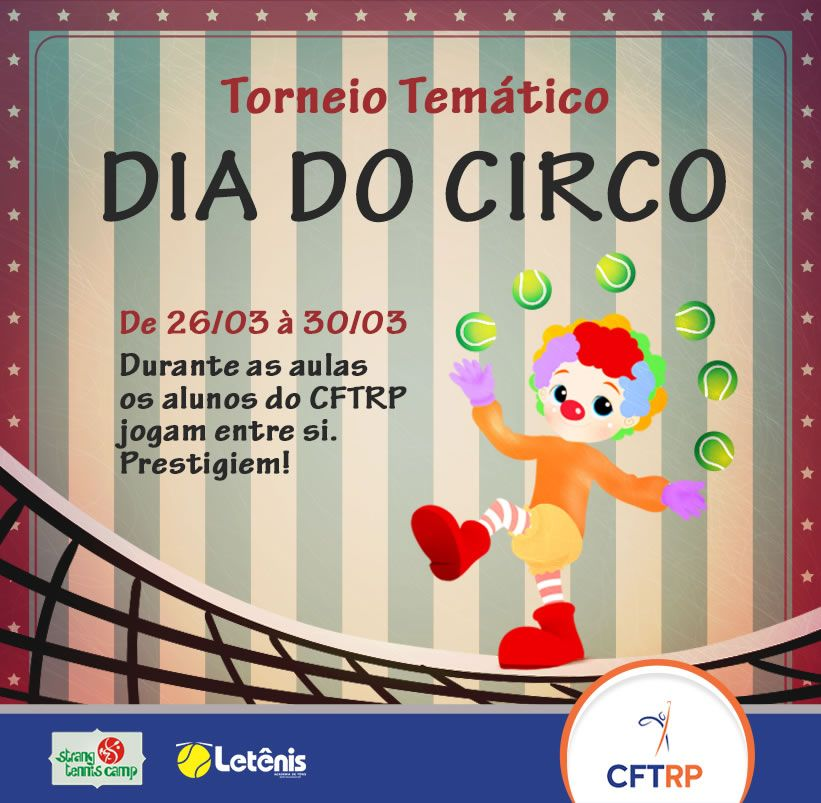 Torneio de Tênis Interno de Circo CFTRP - 27/03/2018