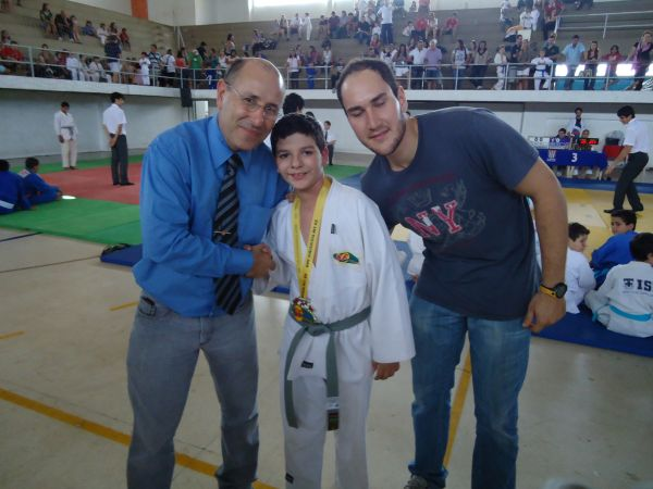 Sensei Francisco, Lucas e Sensei Gustavo