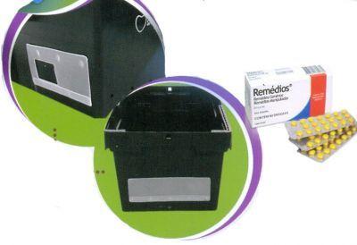 Porta Etiqueta Transparente Colocado