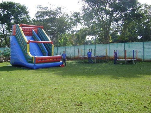 Locação de Brinquedos para festa infantil - tobogã de 7m