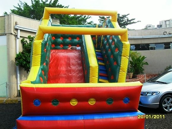 Locação de Brinquedos para festa infantil - tobogã medio 5m