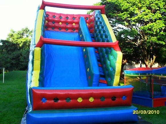 Locação de Brinquedos para festa infantil - tobogã 7m