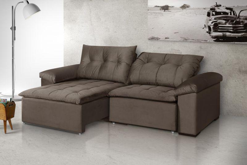 Estofado Apolo, assento retrátil e reclinavel com pillow top, e braços almofadados. - Estofado Apolo, assento retrátil e reclinavel com pillow top.