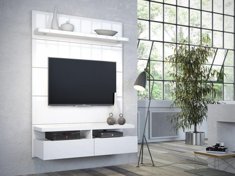 Home e Racks - Home Horizon 1.20 m Branco Gloss