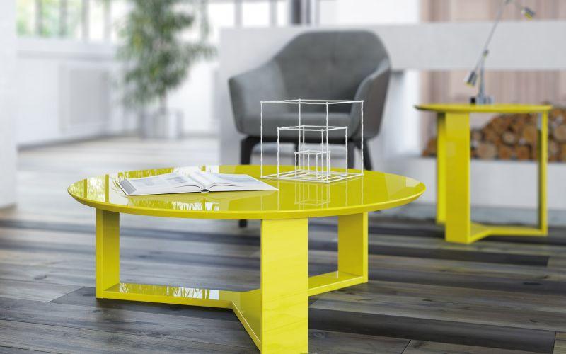 Poltronas mesas de Centro e Aparadores - Mesa de centro e lateral Trix