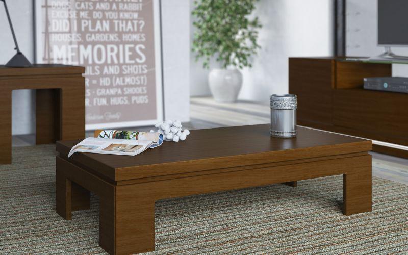 Poltronas mesas de Centro e Aparadores - Mesa de centro e canto Glam