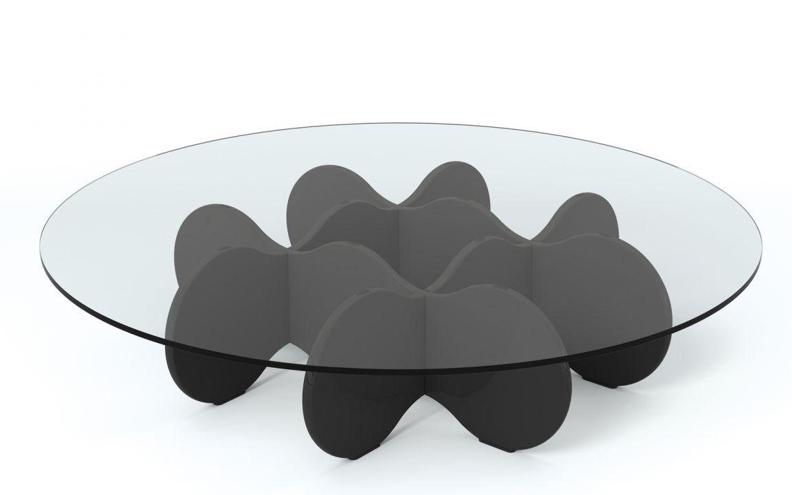 Poltronas mesas de Centro e Aparadores - Mesa de centro cloud preto