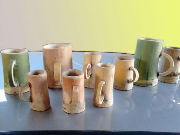 Arte em Bambu - Canecas Bambu