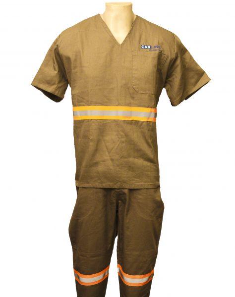Camisa Operacional Manga Curta Sem Gola Decote V
