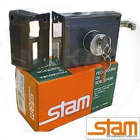 Fechadura de Sobrepor Stam 701/80 Esp.Inox