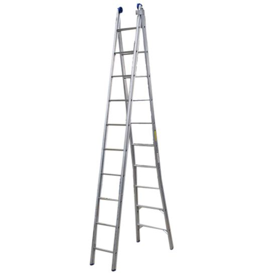 Escada De Alumínio Extensiva 2 x 10 Degraus 5,70