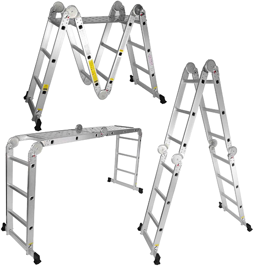 Escada De Alumínio Multiuso Articulada 3X4