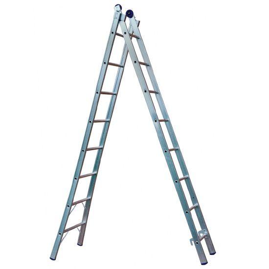 Escada De Alumínio Extensiva 2 x 08 Degraus 4,50