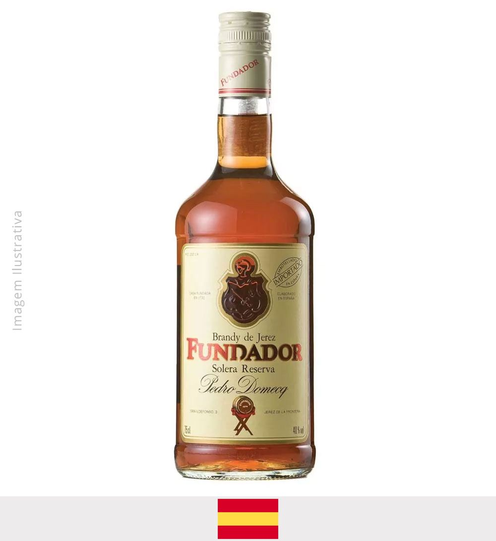 Conhaque Brandy Fundador 750ml