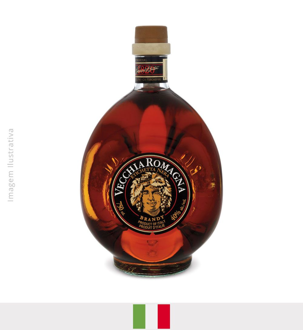 Conhaque Brandy Vecchia Romagna 750ml