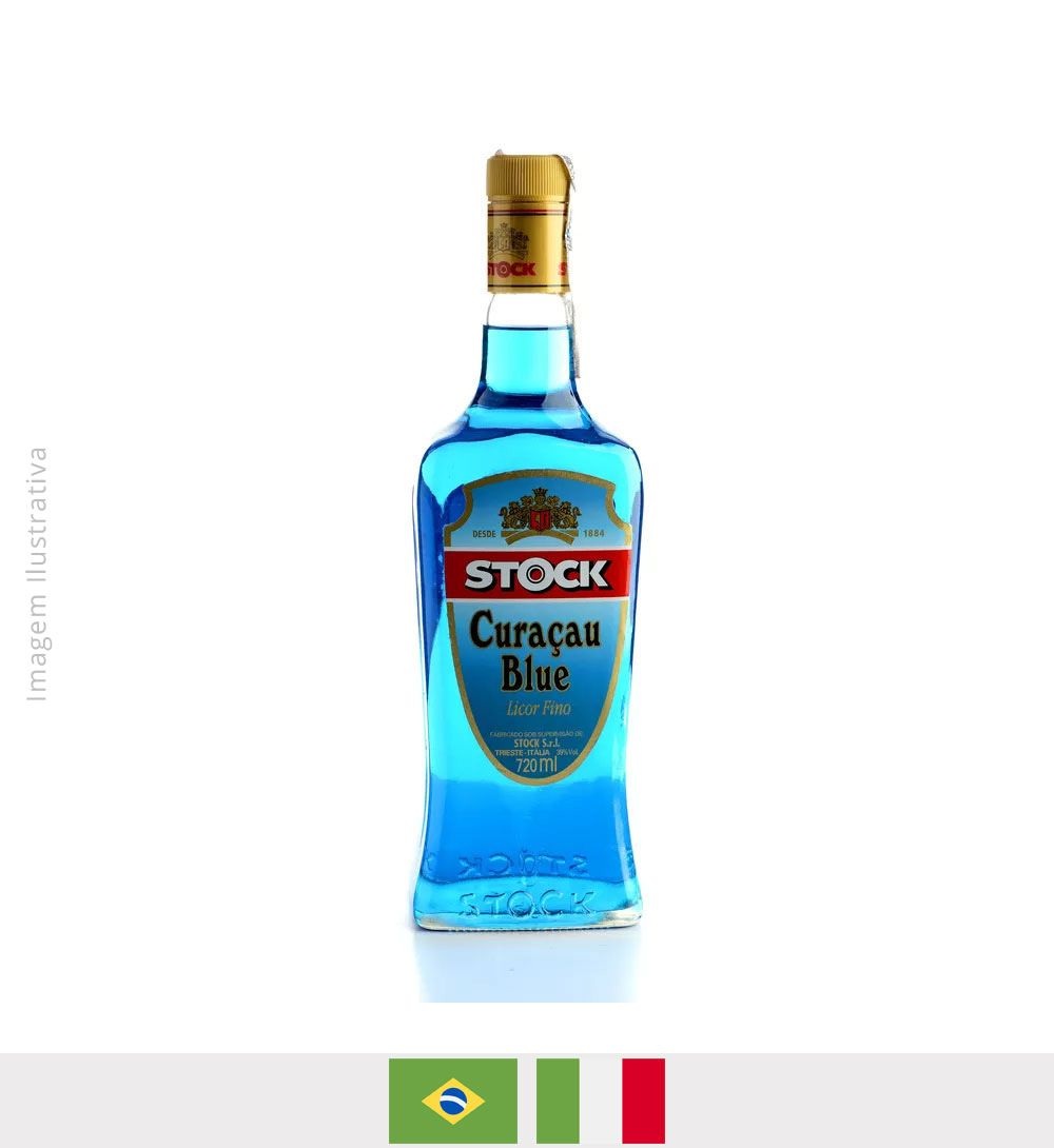 Licor Fino Stock Curaçau Blue 720ml - Licor Fino Stock Curaçau Blue