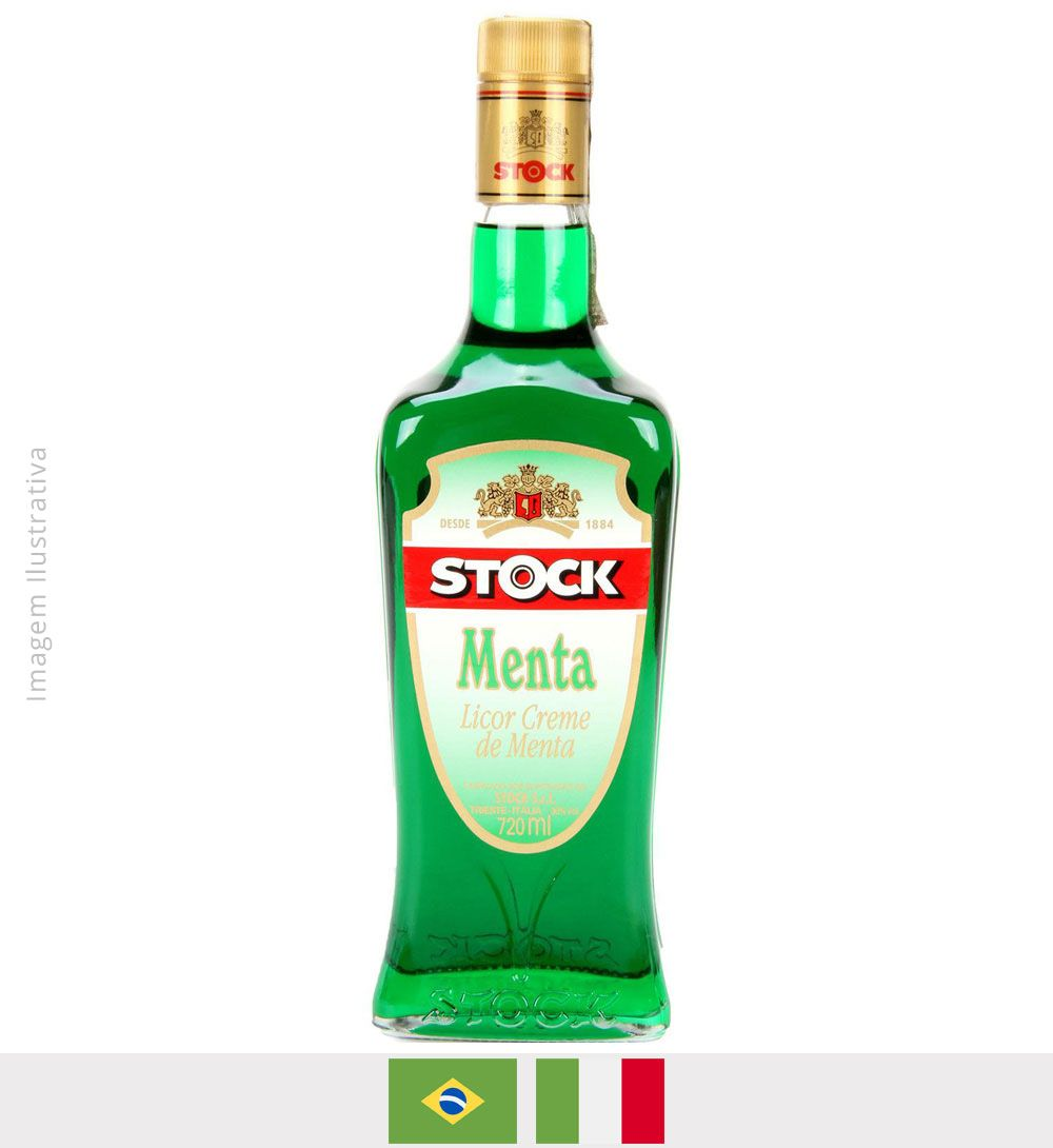 Licor Stock Menta 720ml - Licor Stock Menta