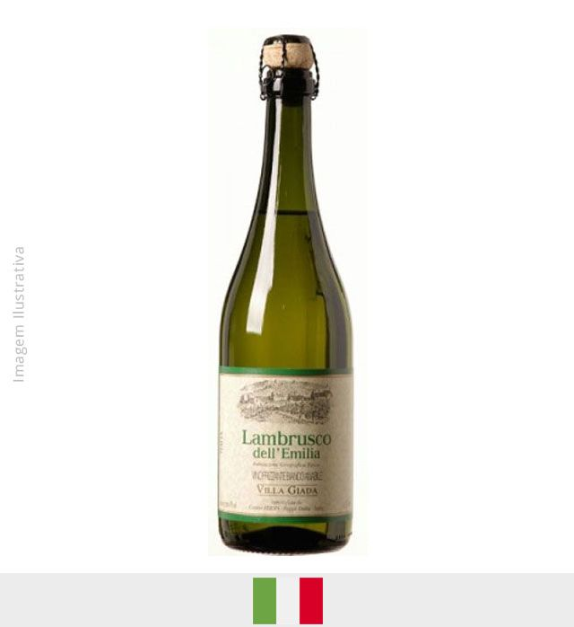 Frisante Lambrusco Villa Dell'Emília Branco 750ml