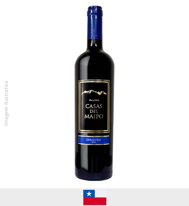 Vinho Casas Del Maipo Carmenere - Central Valley 750ml