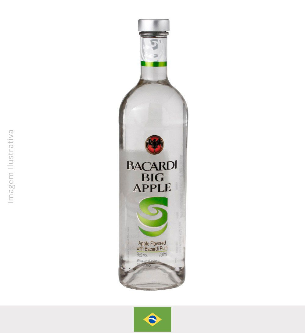 Rum Bacardi Big Apple 980ml - Rum Bacardi Big Aple