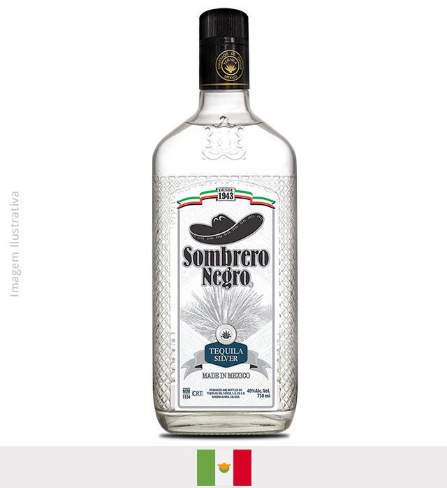 Tequila Sombrero Negro Prata 750ml