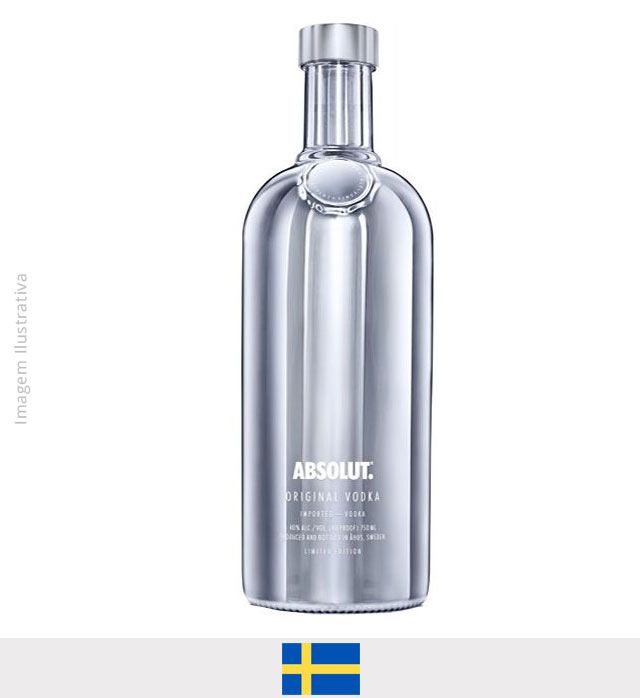 Vodka Absolut Electrik Natural Prata 1L