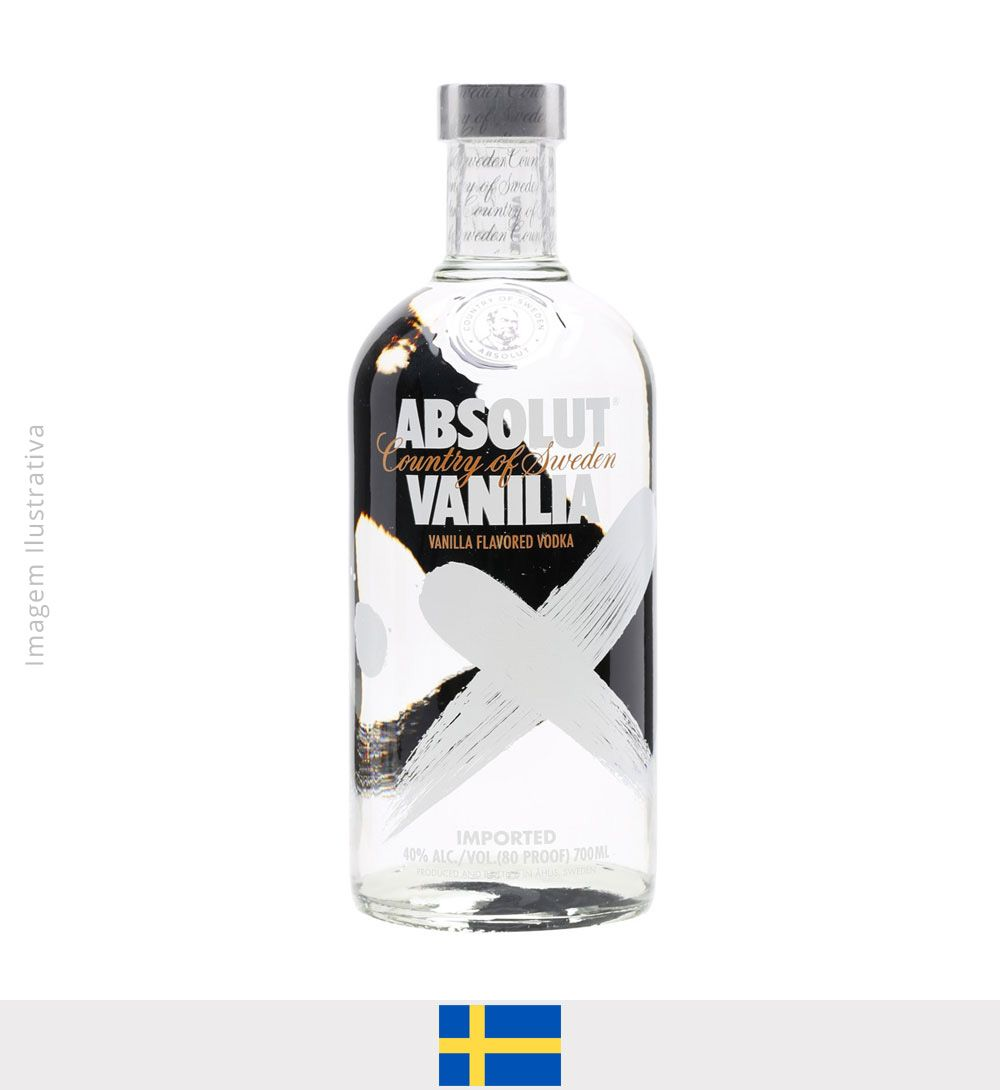 Vodka Absolut Vanilia 750ml - Vodka Absolut Vanilia