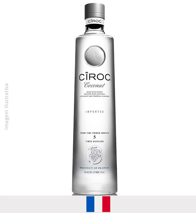 Vodka Cirôc Coconut 750ml - Vodka Cirôc Coconut