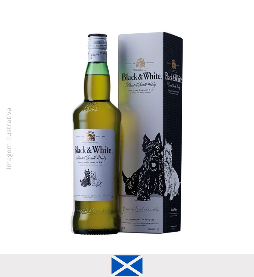Whisky Black & White 1L - Whisky Black White