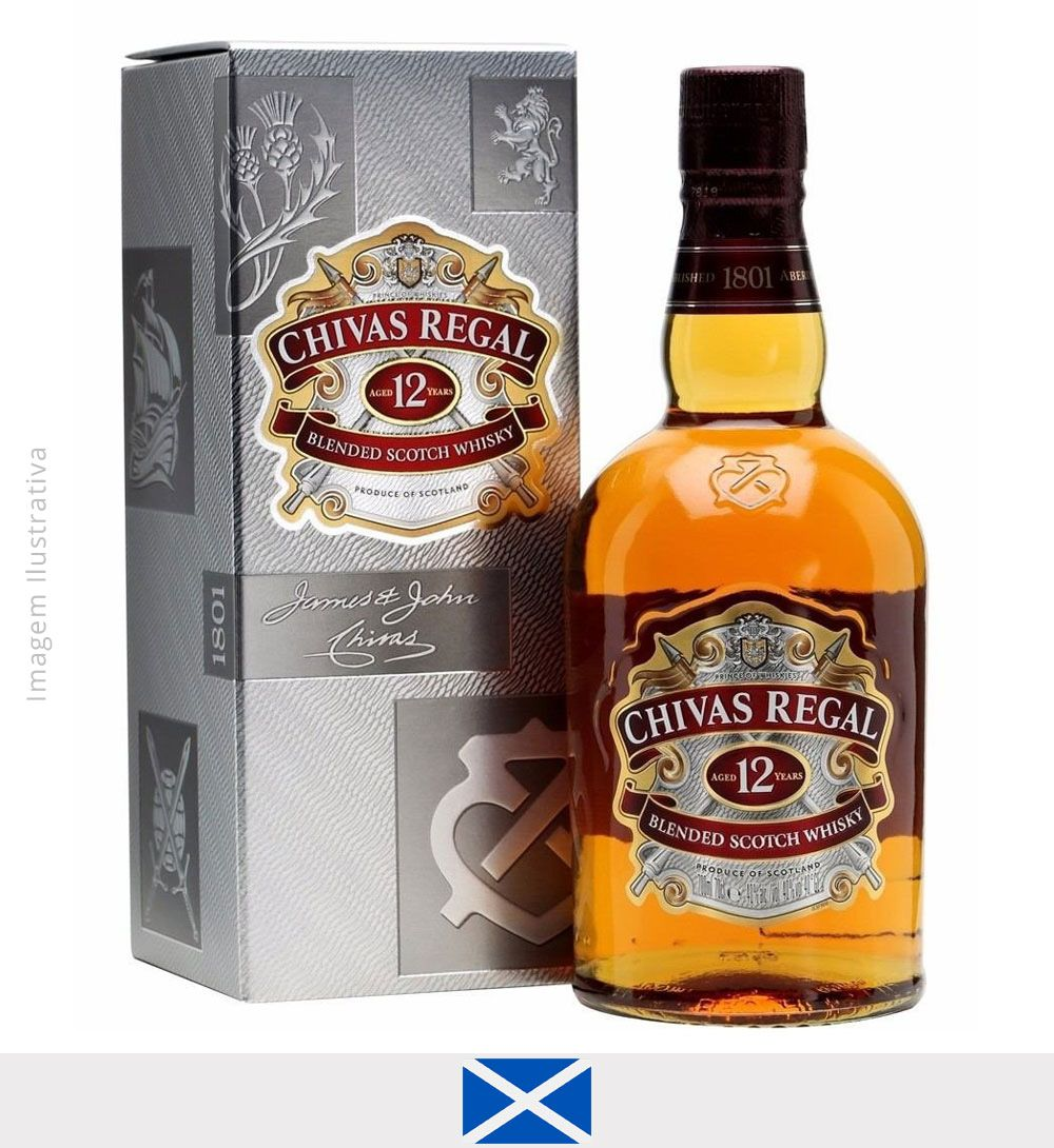 Whisky Chivas Regal 12 anos 1L - Whisky Chivas 12 anos