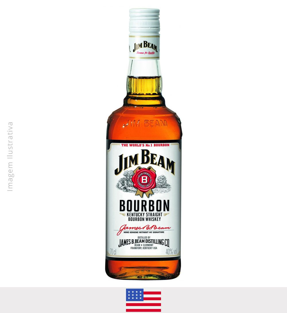 Whisky Jim Beam White 750ml - Whisky Jim Beam White