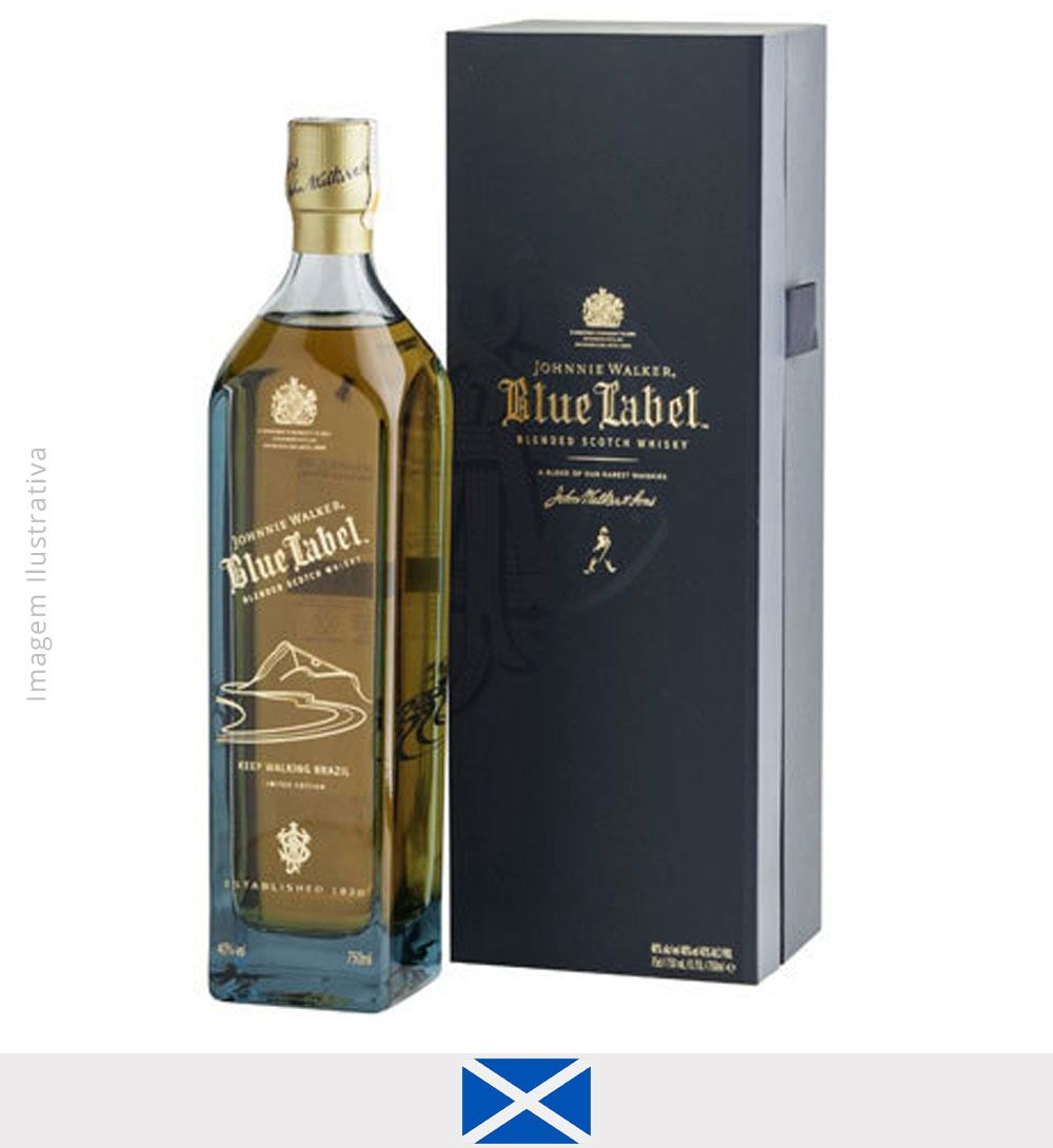 Whisky Johnnie Walker Blue Label Bossa In Blue 750ml   - Whisky Johnnie Walker Blue Label Bossa In Blue
