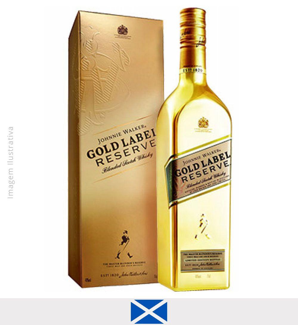 Whisky Johnnie Walker Gold Label Garrafa Dourada 750ml