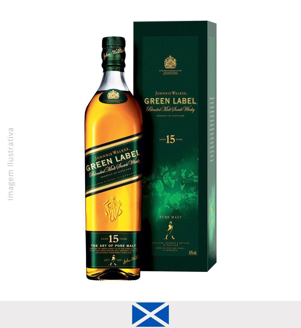Whisky Johnnie Walker Green Label 15 anos 750ml - Johnnie Walker Green Label 15 anos