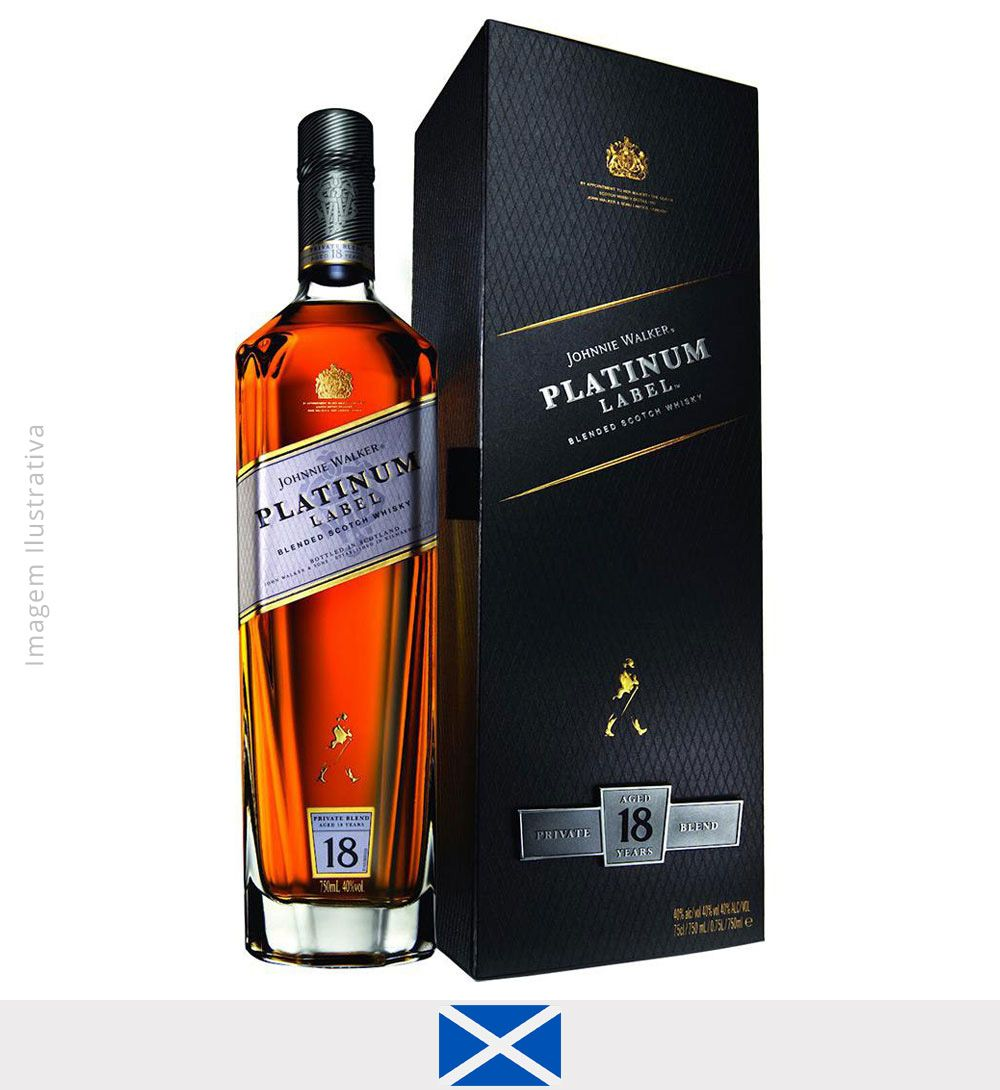 Whisky Johnnie Walker Platinum Label 750 ml