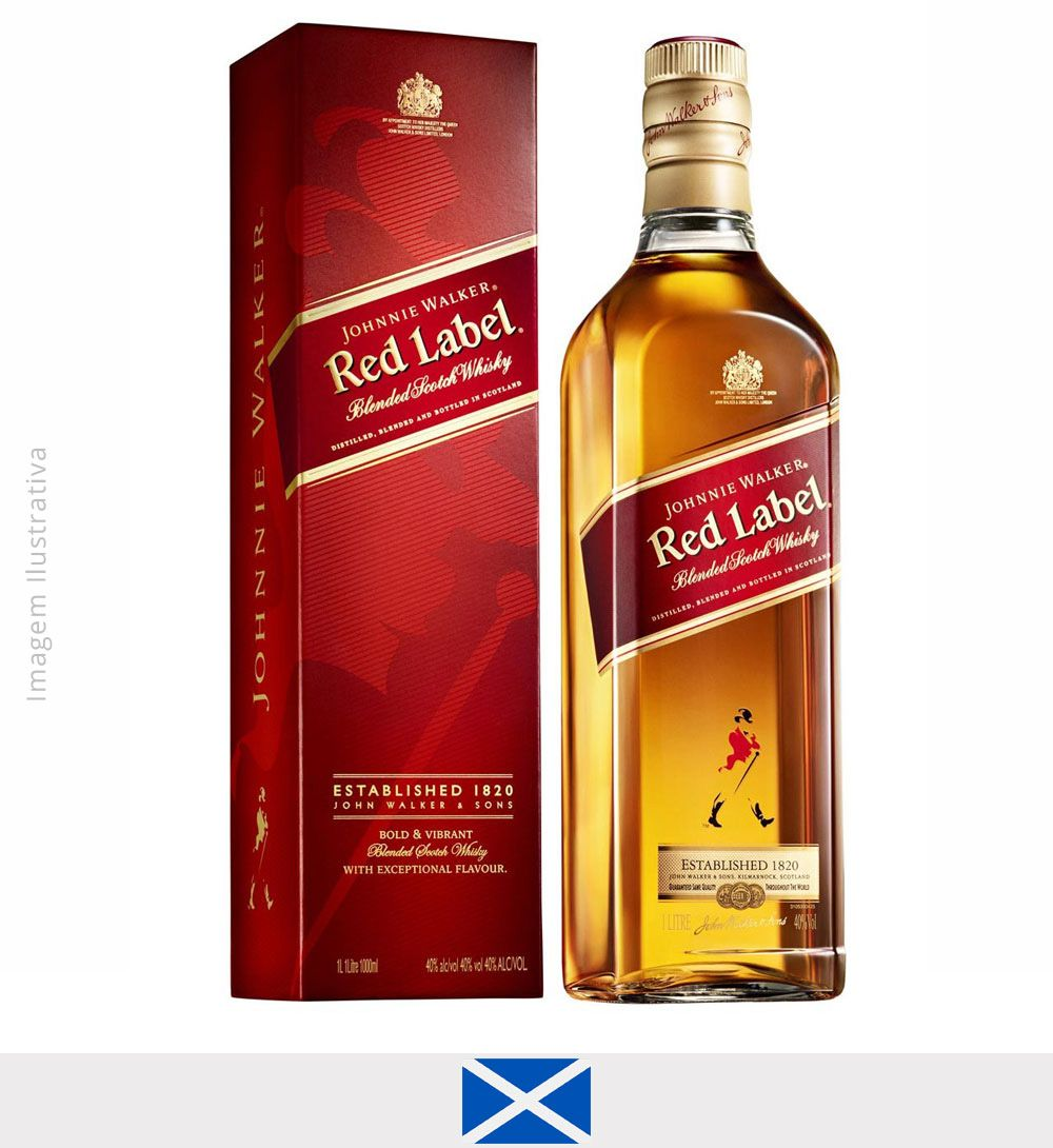 Whisky Johnnie Walker Red Label 1L - Whisky Johnnie Walker Red Label