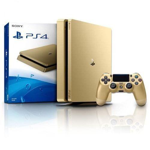 Playstation 4 Slim 1Tb Gold + Controle Sem Fio