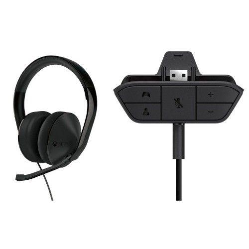 Xbox one stereo headset original microsoft + Adaptador - Xbox One