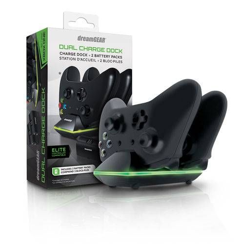 Carregador DreamGear Dual Charge Dock 2 baterias - Xbox One