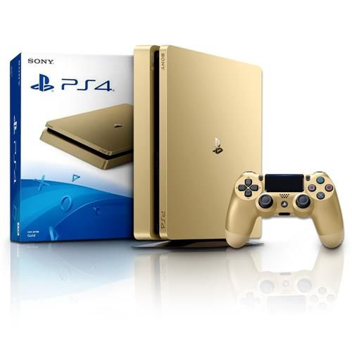 Playstation 4 Slim 500gb Gold + 2 Controles Sem Fio