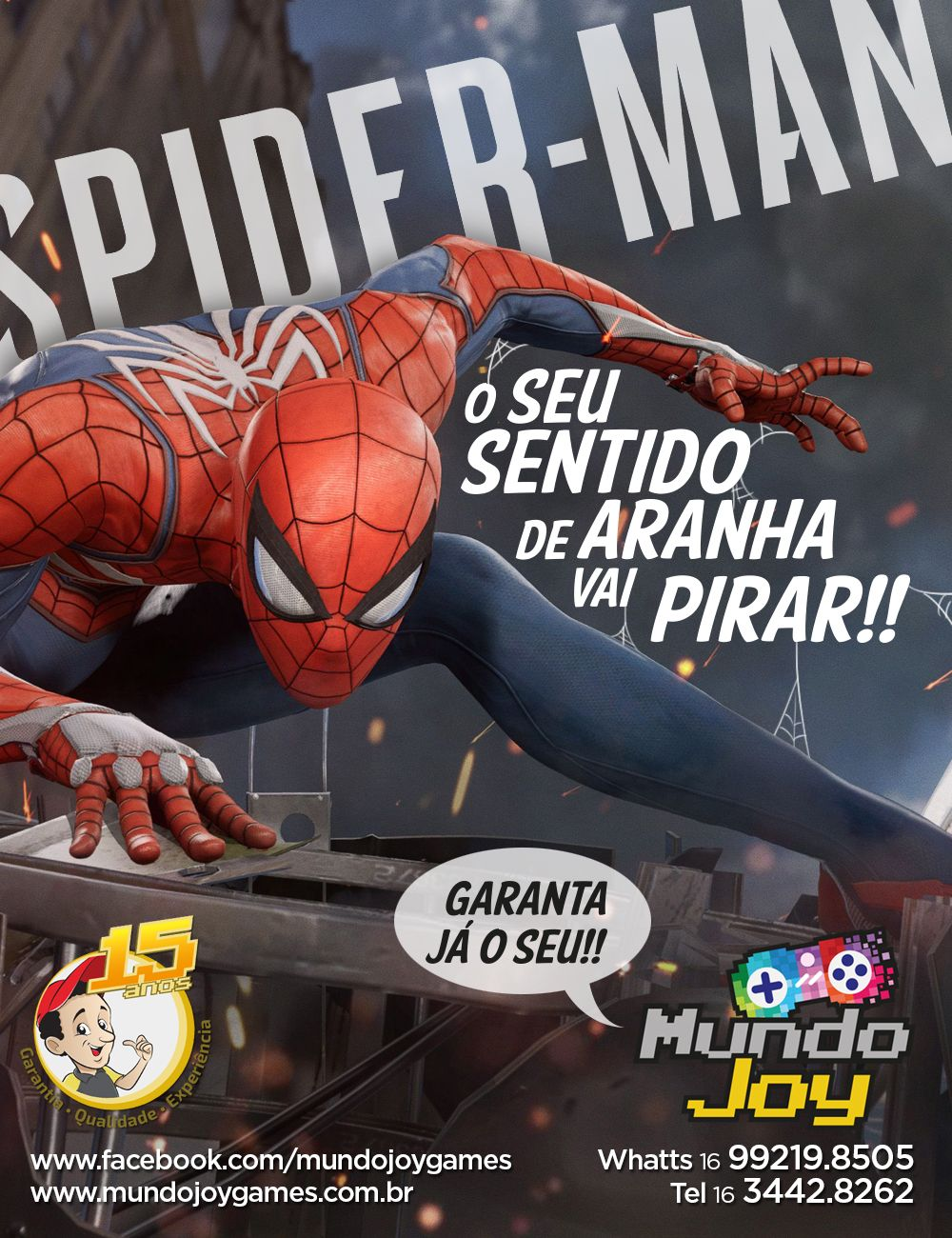 Spider Man - PS4 + Poster 30x20 Pré-venda 08/09/2018