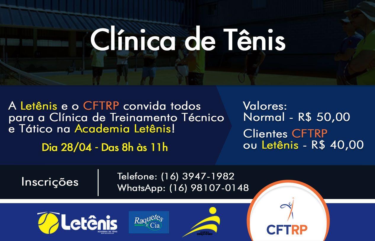 Clínica de Tênis de Treinamento Técnico e Tático - 28/04/2018