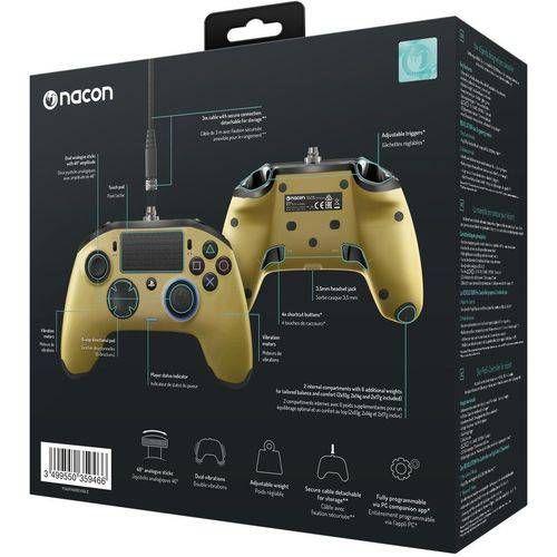 Controle Revolution Pro Nacon Dourado - Ps4