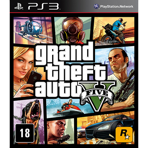 Grand Theft Auto V ( GTA ) - PS3 Semi novo
