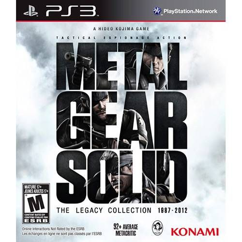 Metal Gear Solid: The Legacy Collection - PS3 Seminovo